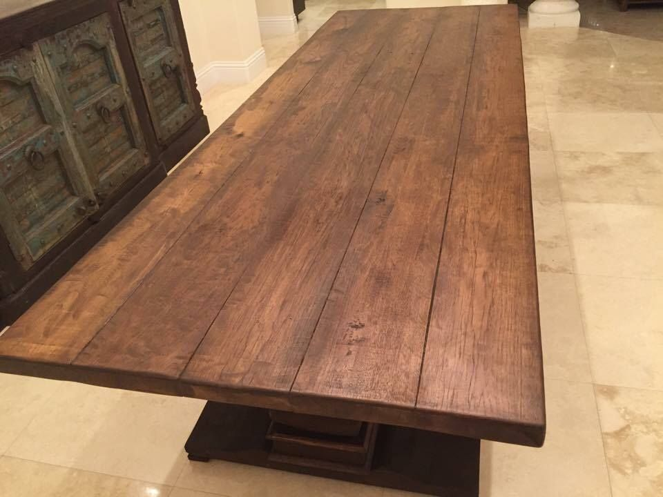 Reclaimed hickory table top. 47 best Custom built Wood Tables images on Pinterest   Wood tables