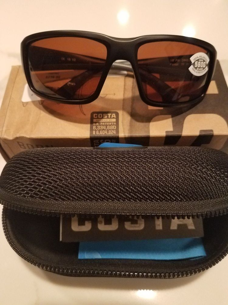 11619a8872 Costa Del Mar Fantail Black Copper 580G lenses-100% Polarized-Retails  239