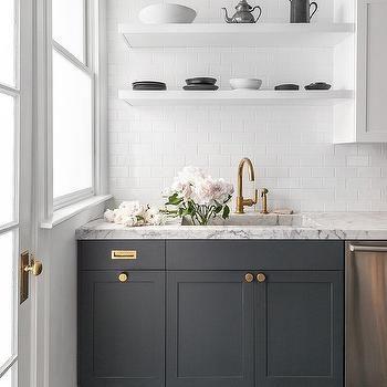 Best White Floating Shelves Over Dark Gray Cabinets Dark Wood 400 x 300