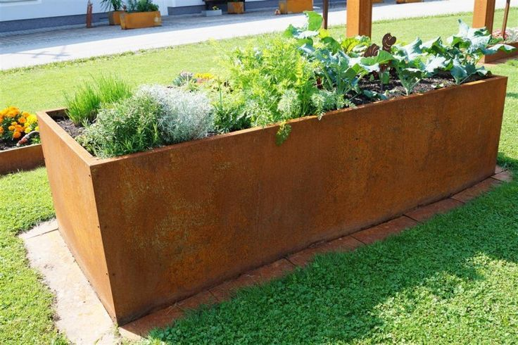 Edelrost Raised Bed Rectangular Long Gardening Garden Garden Furniture Raised Beds