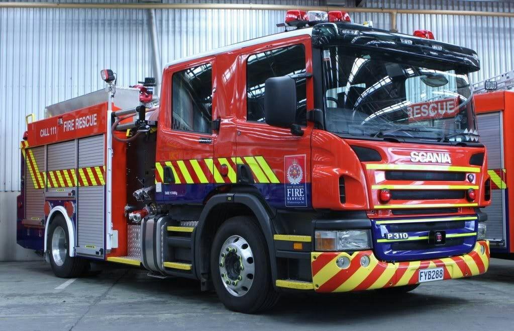 New zealand fire service scania appliance fire trucks