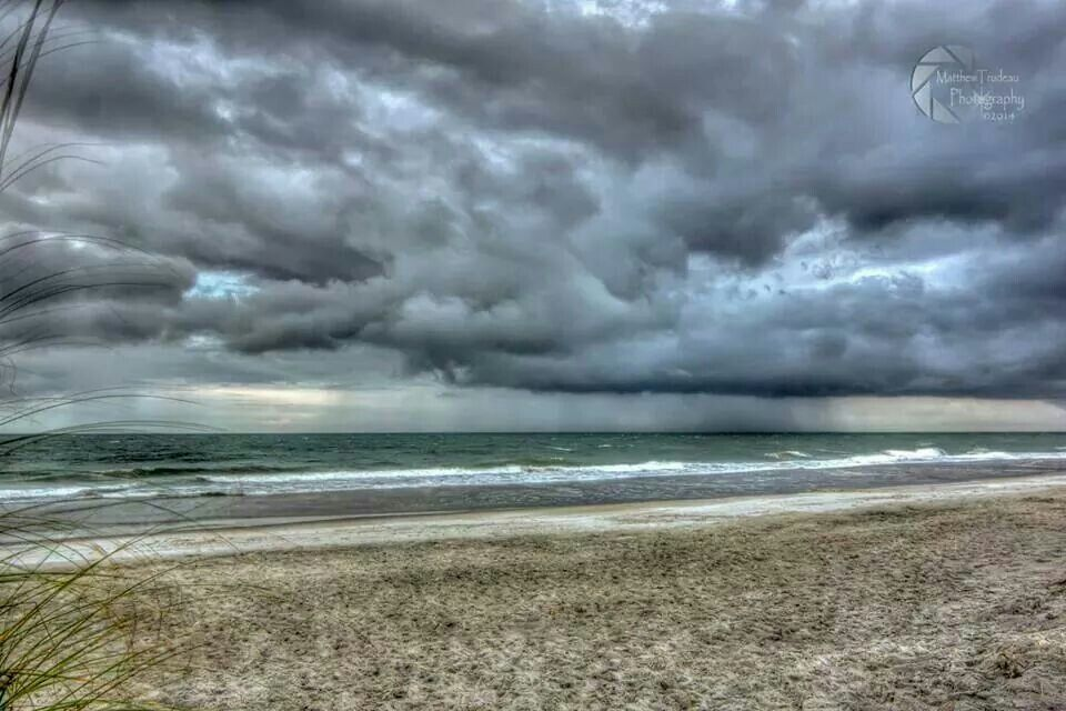 The ocean in Murrells Inlet after a thunderstorm in July 2014 - Matthew Trudeau Photogtaphy
