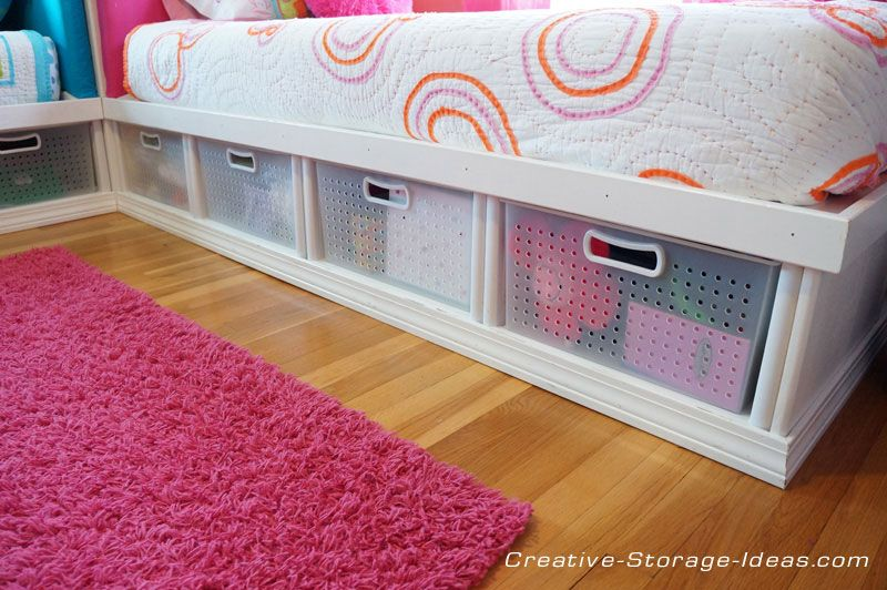 Corner Twin Storage Beds With Everything Organized And Out