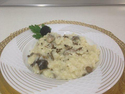 receta risotto de setas con trufa