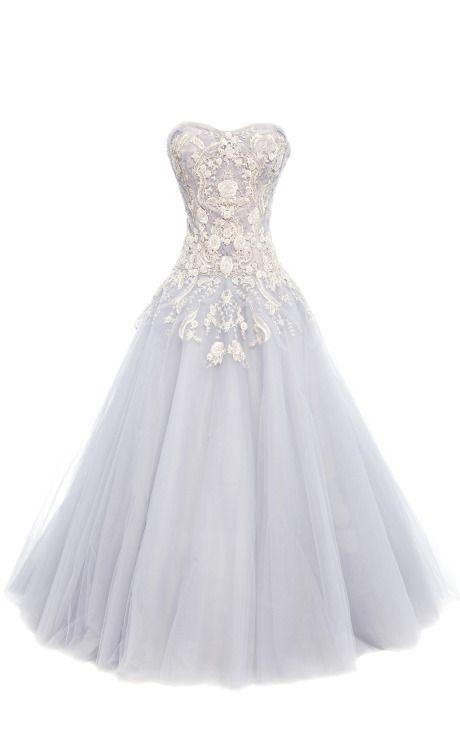 Metallic Floral Tulle Ball Gown   Ballkleid, Kleider und ...