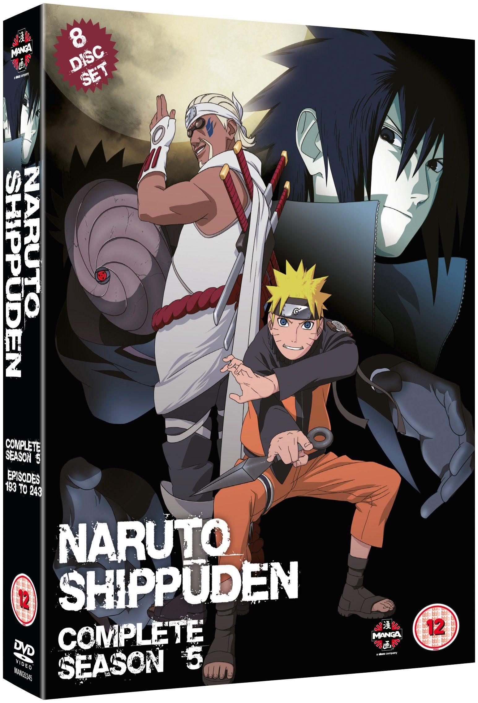 Naruto shippuden complete series 5 box set episodes 193