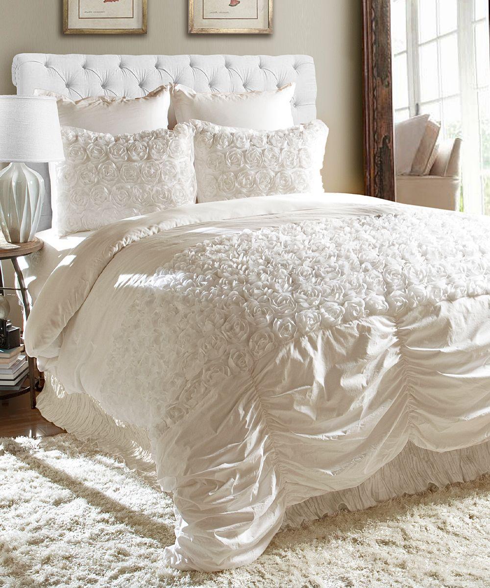 Ivory Rosemonde Comforter Set zulily Bedroom makeover