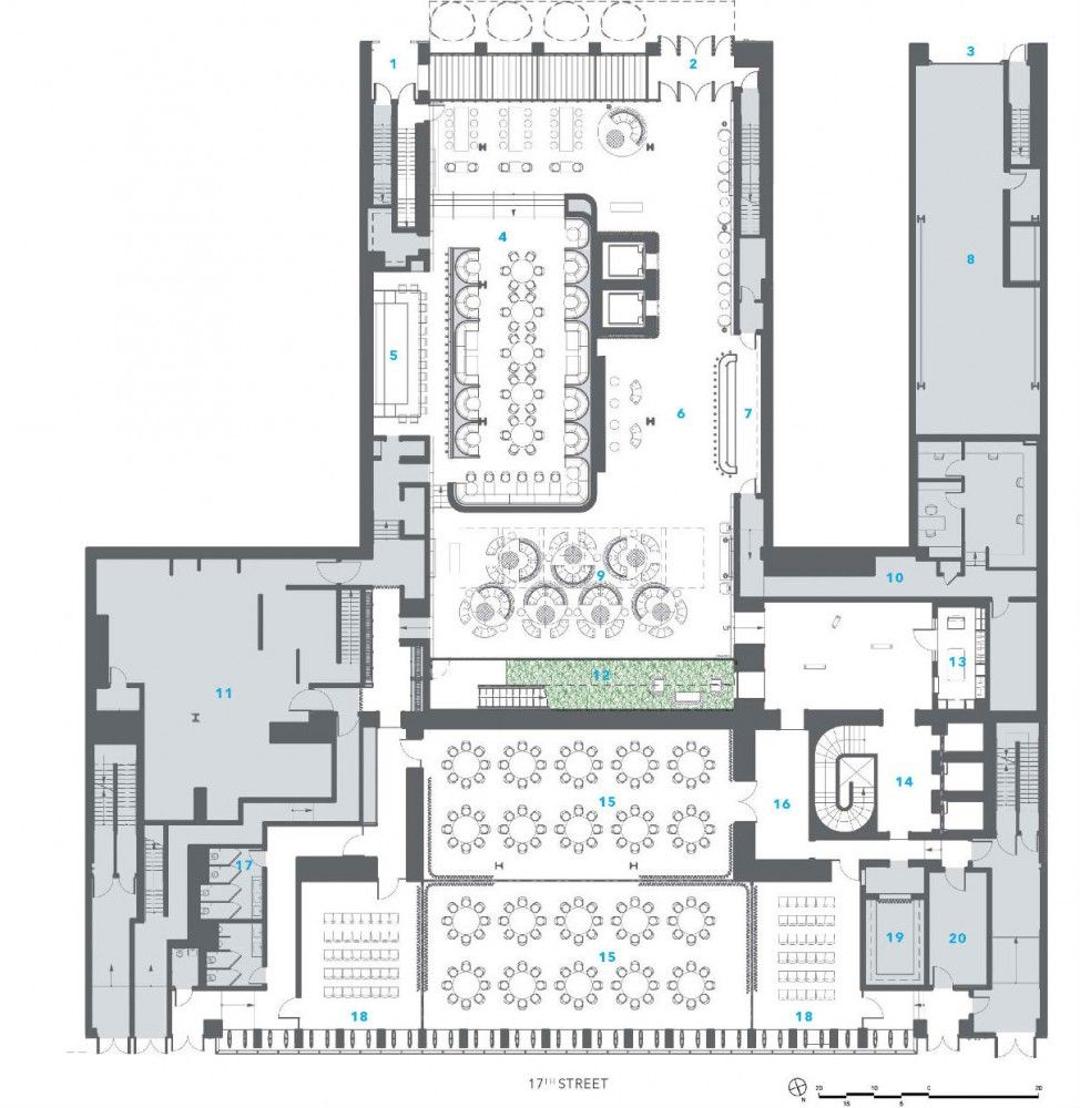 Dream Downtown Hotel Handel Architects Hotel Floor Plan Cafe Floor Plan Hotel Floor