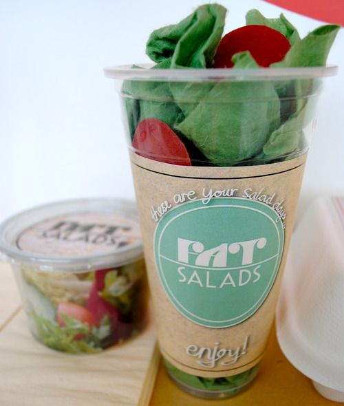 Designs for FAT SALADS - salad pot (2nd year college project)