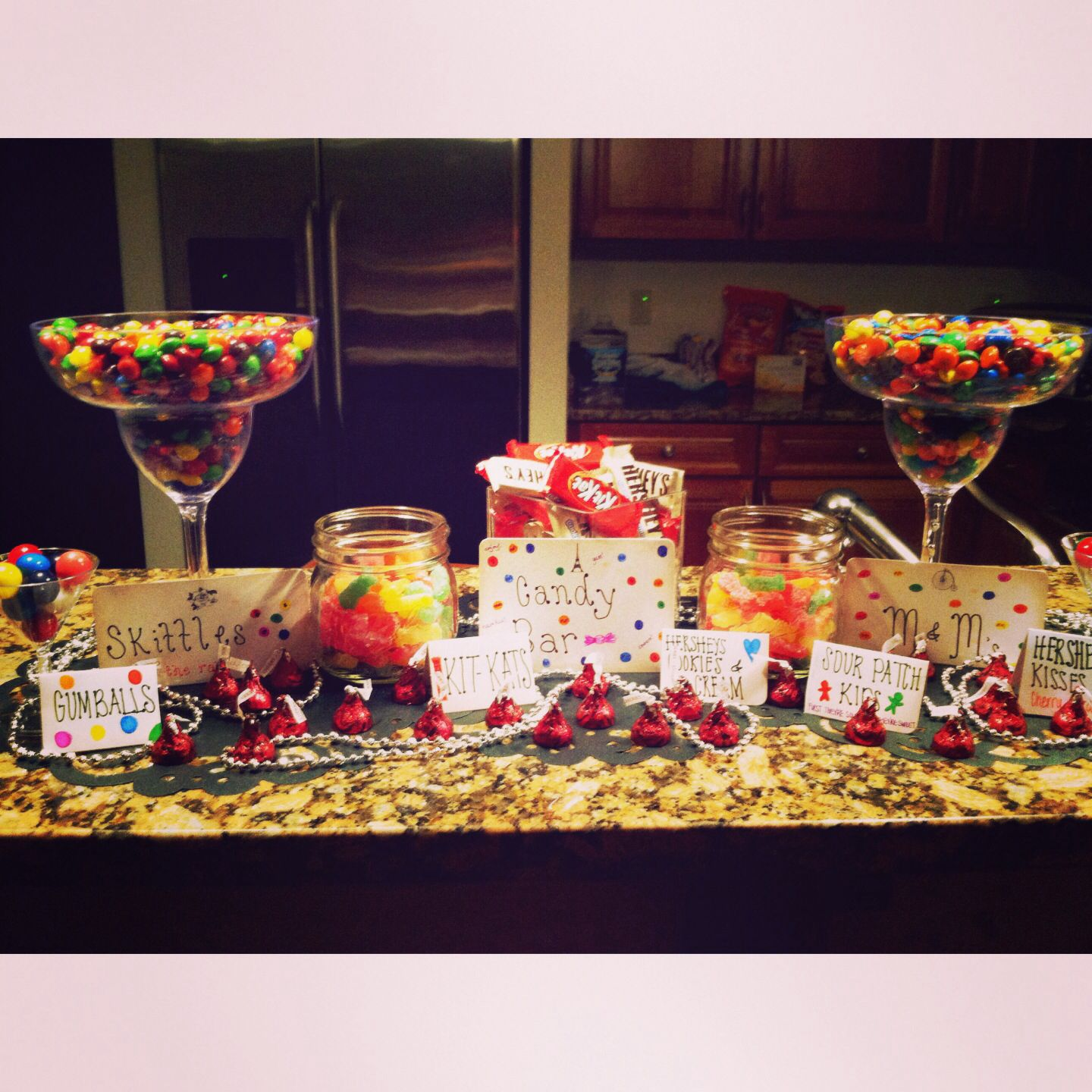 candy bar i did at my 21st birthday party! picture credit @ana rose