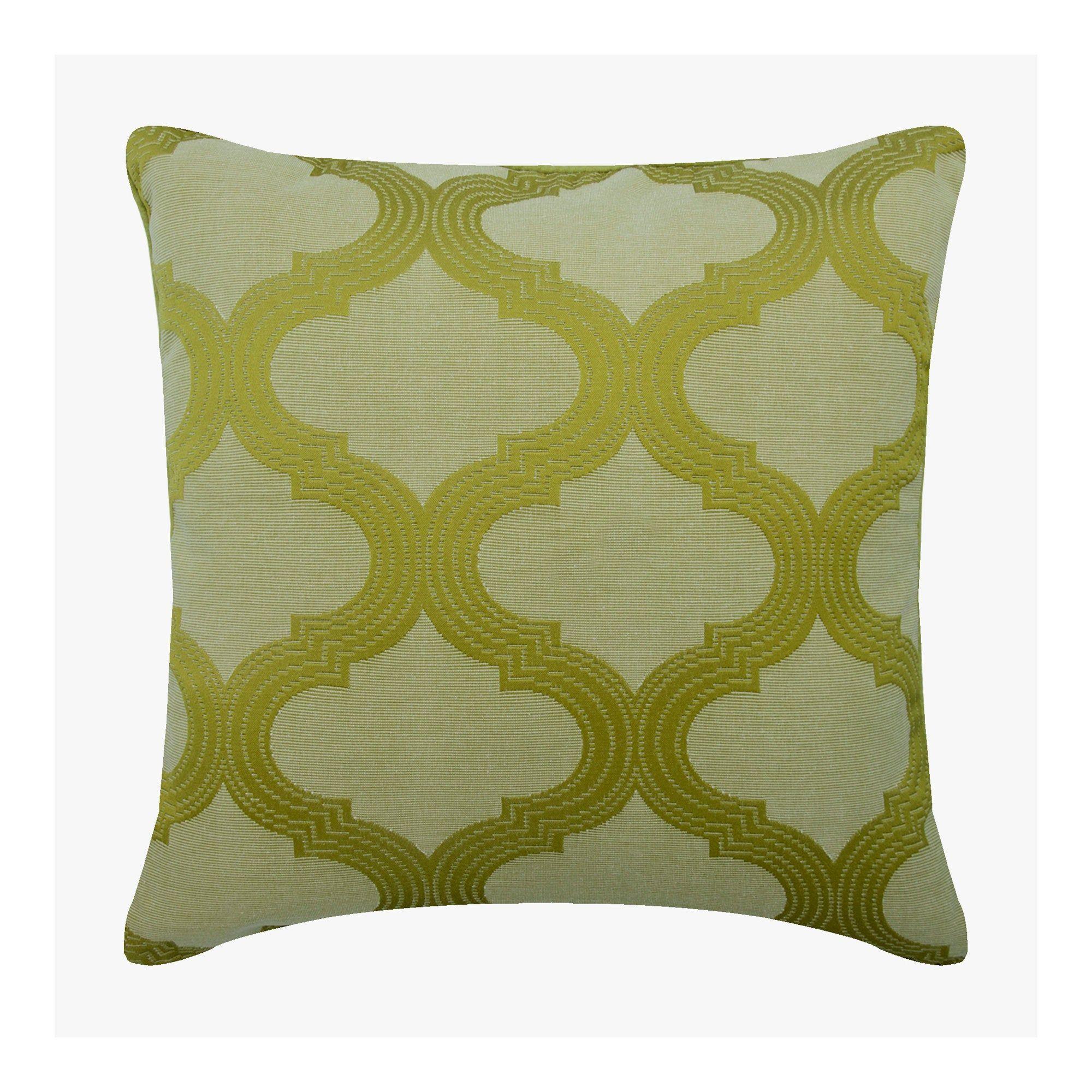 silk green throw pillow cover 16x16