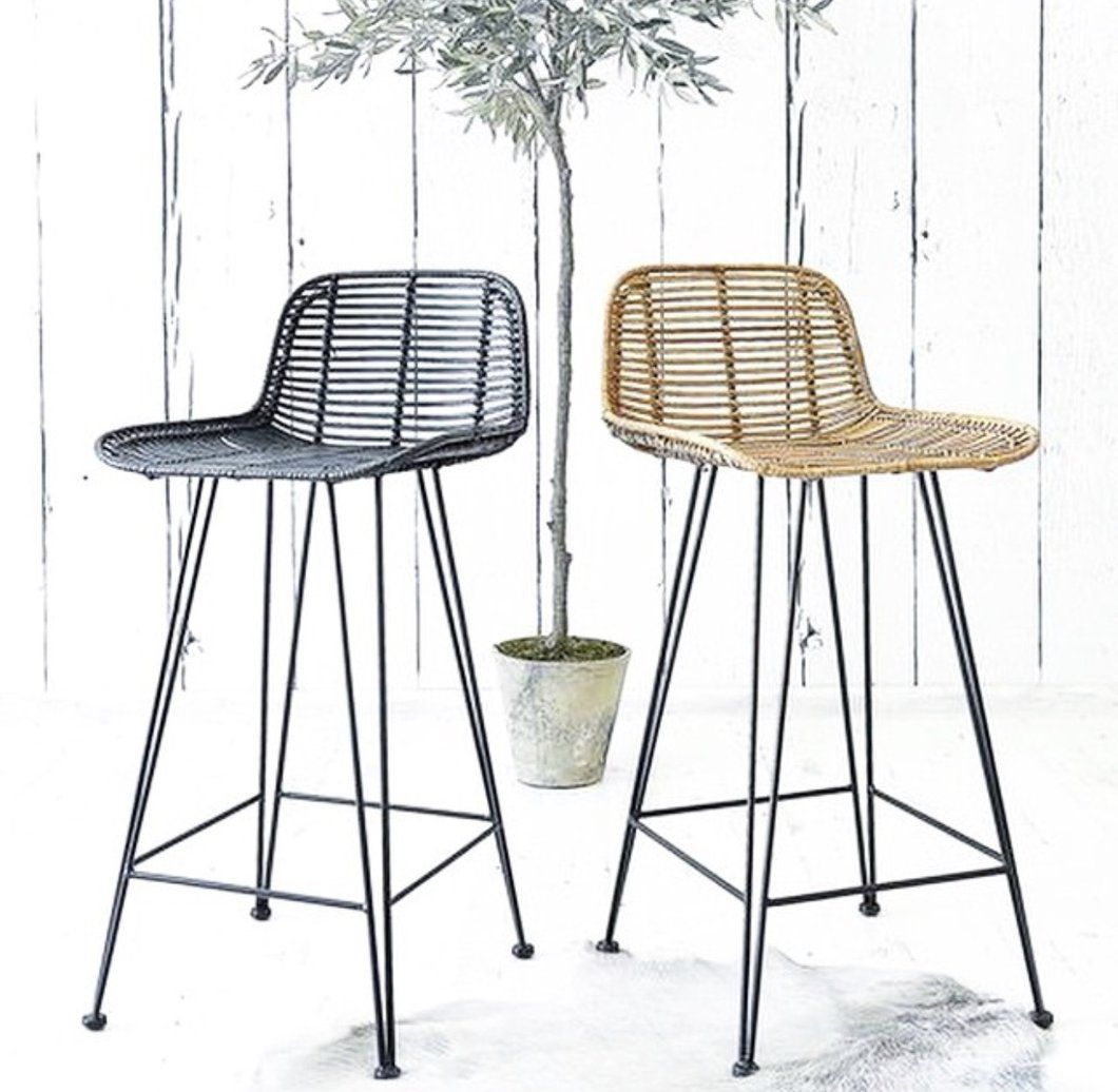 Marvelous Rattan Bar Counter Stool Natural In 2019 Peytonsam Gmtry Best Dining Table And Chair Ideas Images Gmtryco
