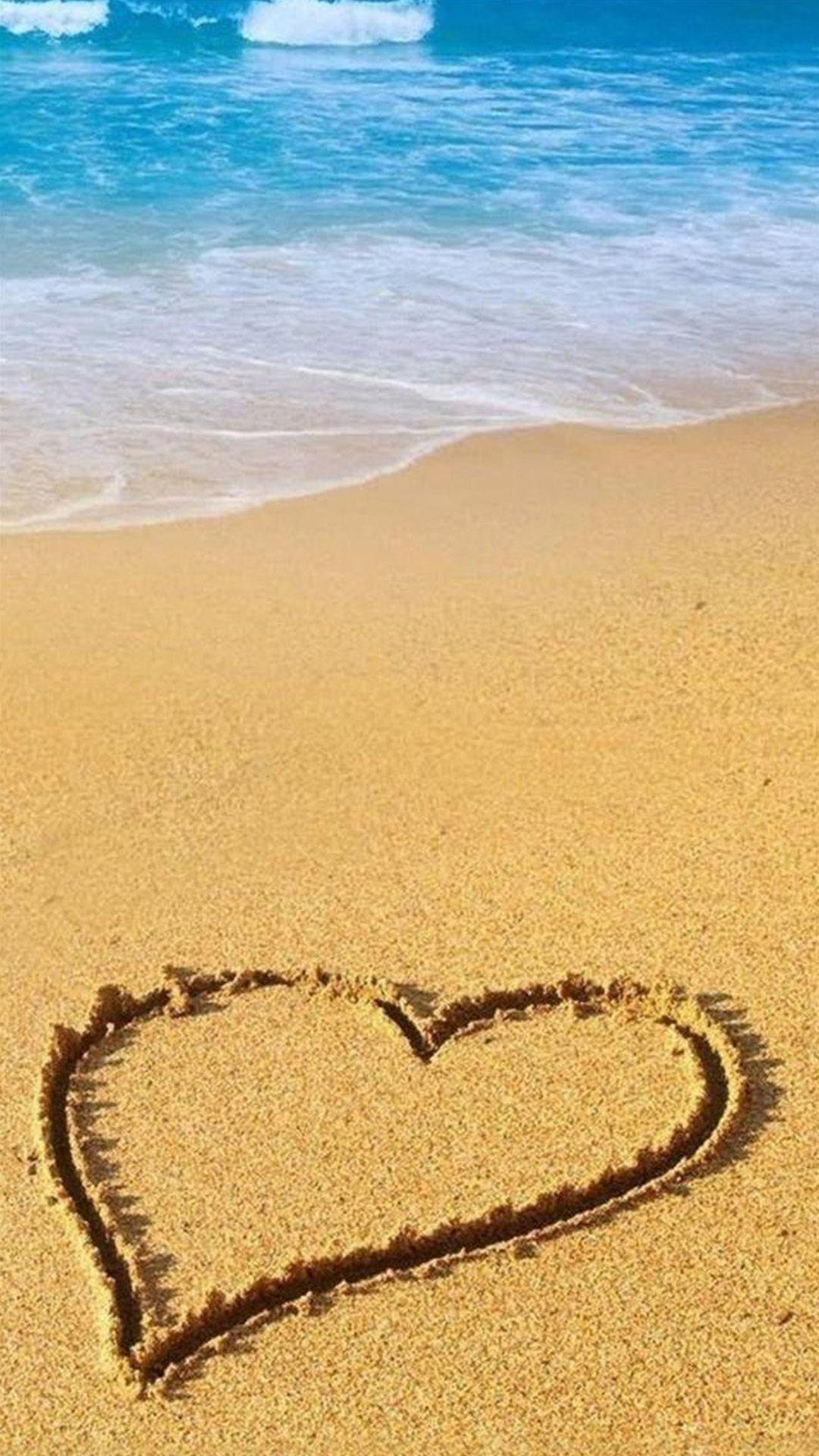 Love Beach Sand Iphone Wallpaper Beach Wallpaper