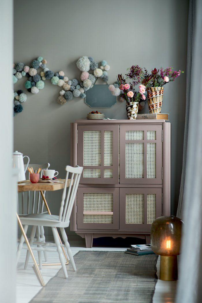 Un buffet rafin en rotin tress relooking de meubles deco diy d co et mobilier maison for Mobilier decoration maison