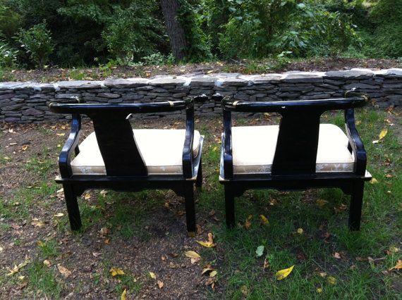 James Mont original century chinoisiere chairs. $1,000.00, via Etsy.