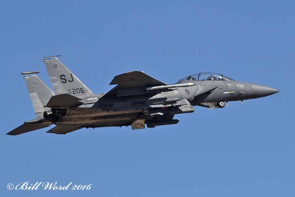 McDonnell Douglas F-15E Strike Eagle cn1070 USAF 87-0205 SJ 334 FS Fighting Eagles b