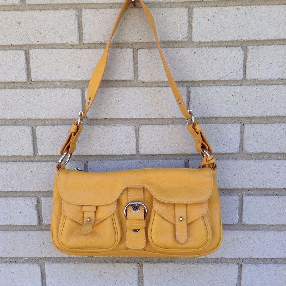 Luce Shoulder Bag Mustard Gold Purse Er Soft Leather Handbag Made In Italy Shoulderbag
