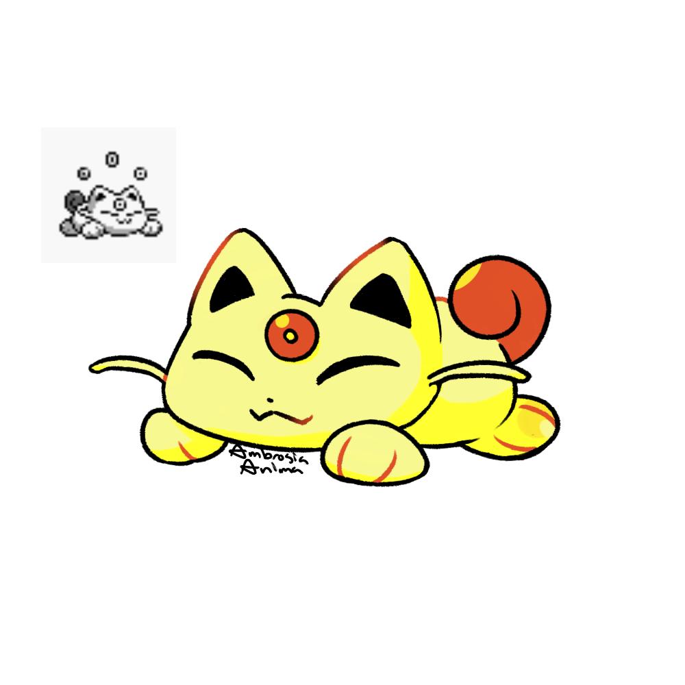 i drew the meowth pre evolution meowsy pokemon games evolution monsters