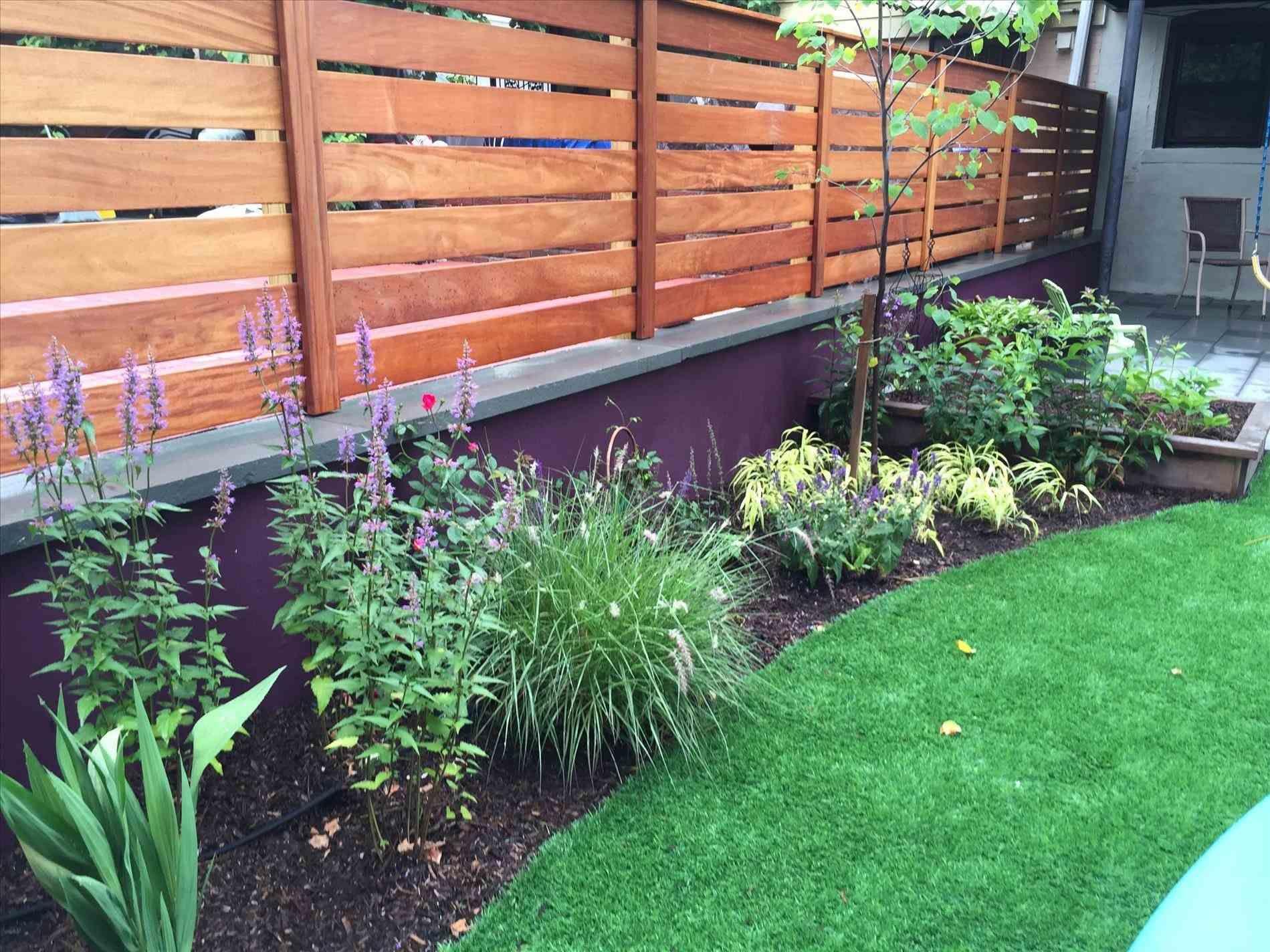 Image Result For Cinder Block Wood Fence