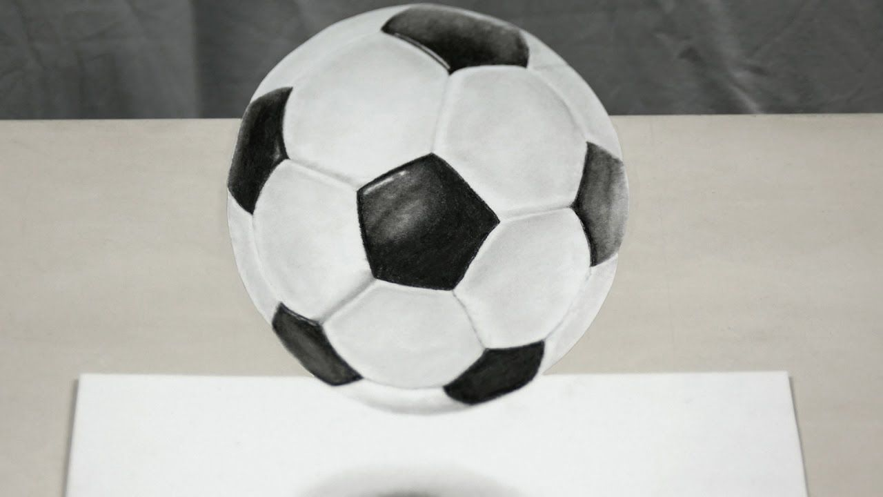My Soccer Ball 3d Speed Drawing Niceartonline Soccerball Speeddrawing Art Drawing Illusion Soccer Ball Soccer Drawings