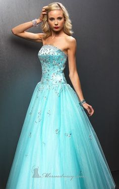 b6c6e7d65c60 puffy prom dress with sparkly top | prom dresses | Prom dresses blue ...