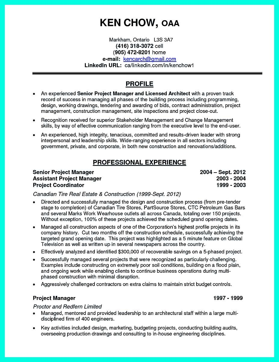 cool Simple Construction Superintendent Resume Example to