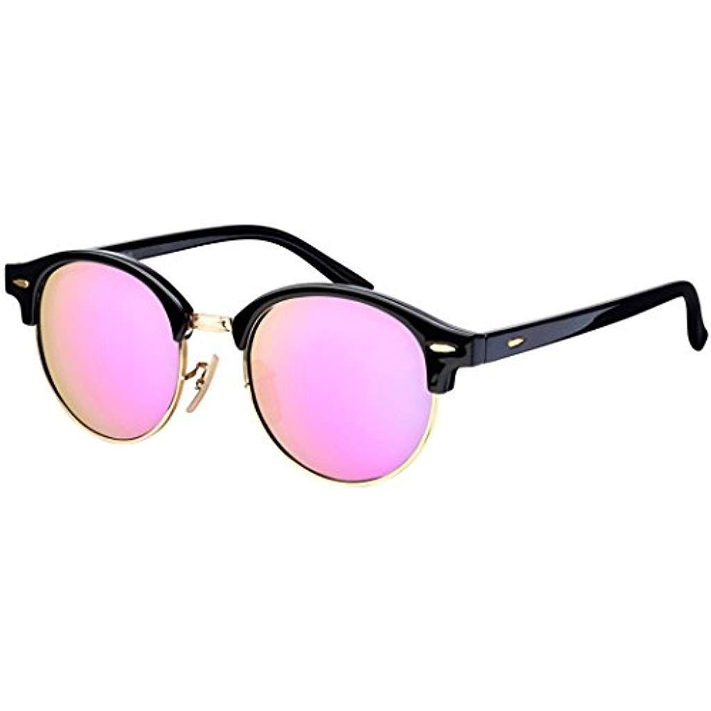 Sonnenbrille La Optica Uv 400 Schutz Unisex Damen Herren Gold Rund Farben Verspiegelt Mirrored Sunglasses Square Sunglass Glasses