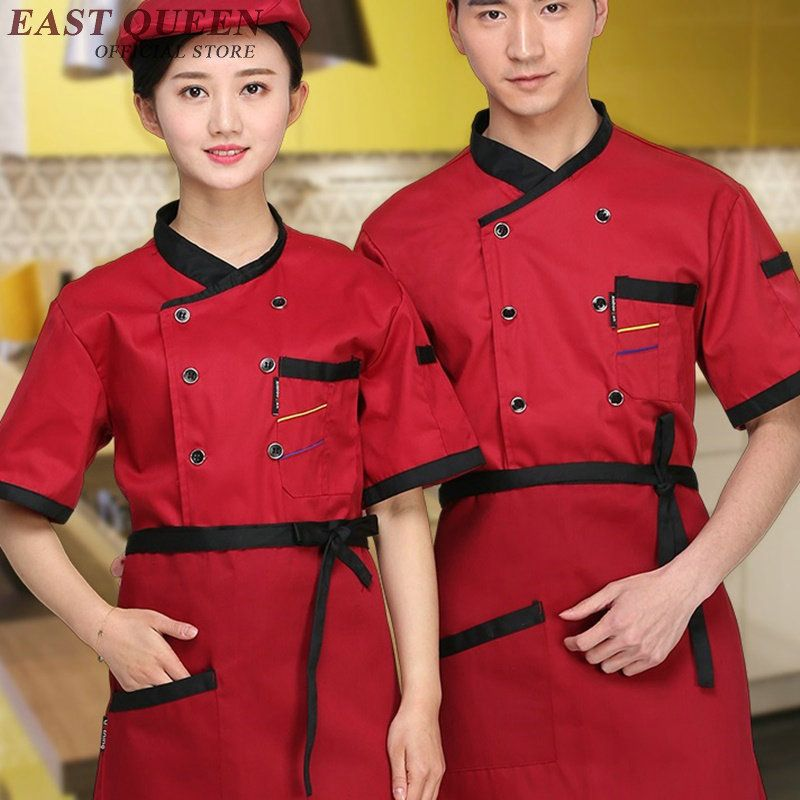 b0aa0a83ff2 Food service chef jacket chinese dragon cook clothes women men hotel  kitchen chef uniform clothing restaurant uniforms NN0149 W  Affiliate