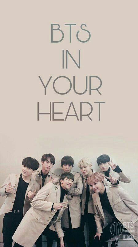 Bts In Your Heart Lockscreen Homescreen Wallpaper Bts Bangtan