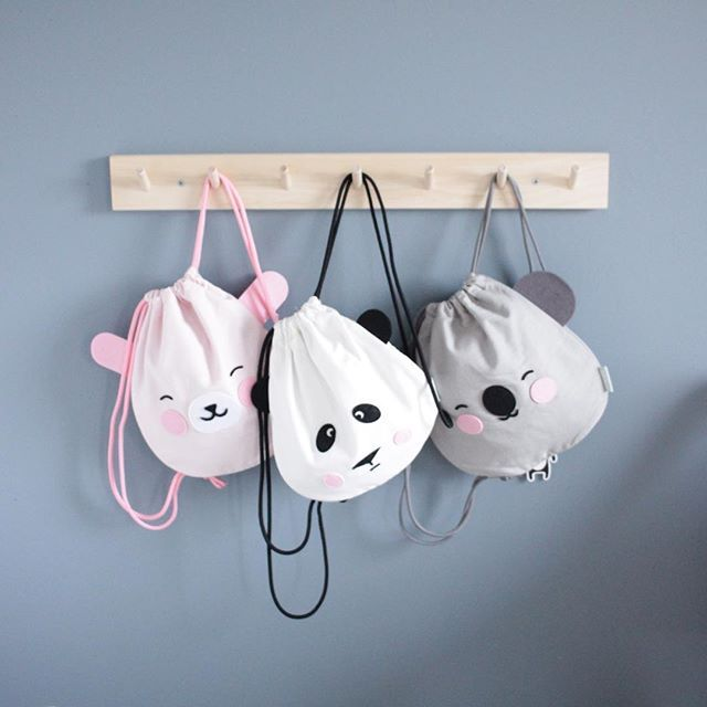 Kids drawstring backpack, bear, coala and sheep #backpack #drawstringbag #bag #backpack #kidsaccessories #accessories #sewproject