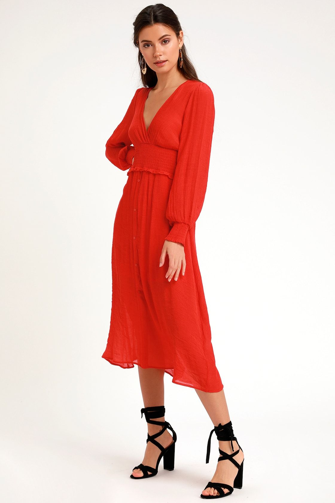 Go For It Red Long Sleeve Midi Dress Red Long Sleeve Midi Dress Long Red Dress Long Sleeve Midi Dress [ 1680 x 1120 Pixel ]