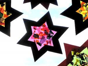 Photo of Transparent paper window star – Christmas crafts – My grandchildren and me