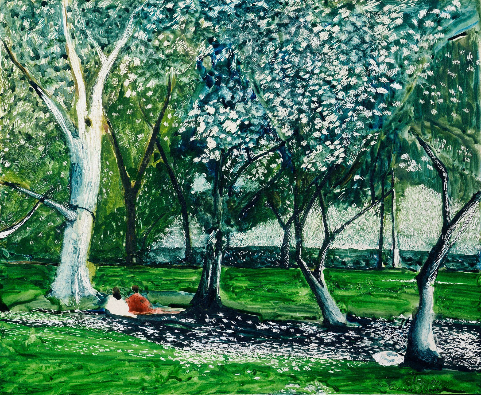 Mornings in Central Park, Tony Bennett can often be found indulging his passion for painting before the crowds arrive.