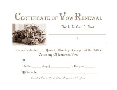 Vow renewal certificate template condo-financials. Com.