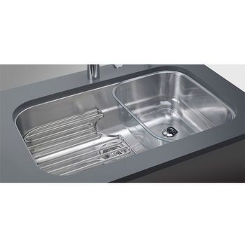 Franke Oceania Stainless Steel Single Bowl Bottom Mount.Sink. The Sink. Get  With Strainer, Bottom Grid And Shelf. Done.
