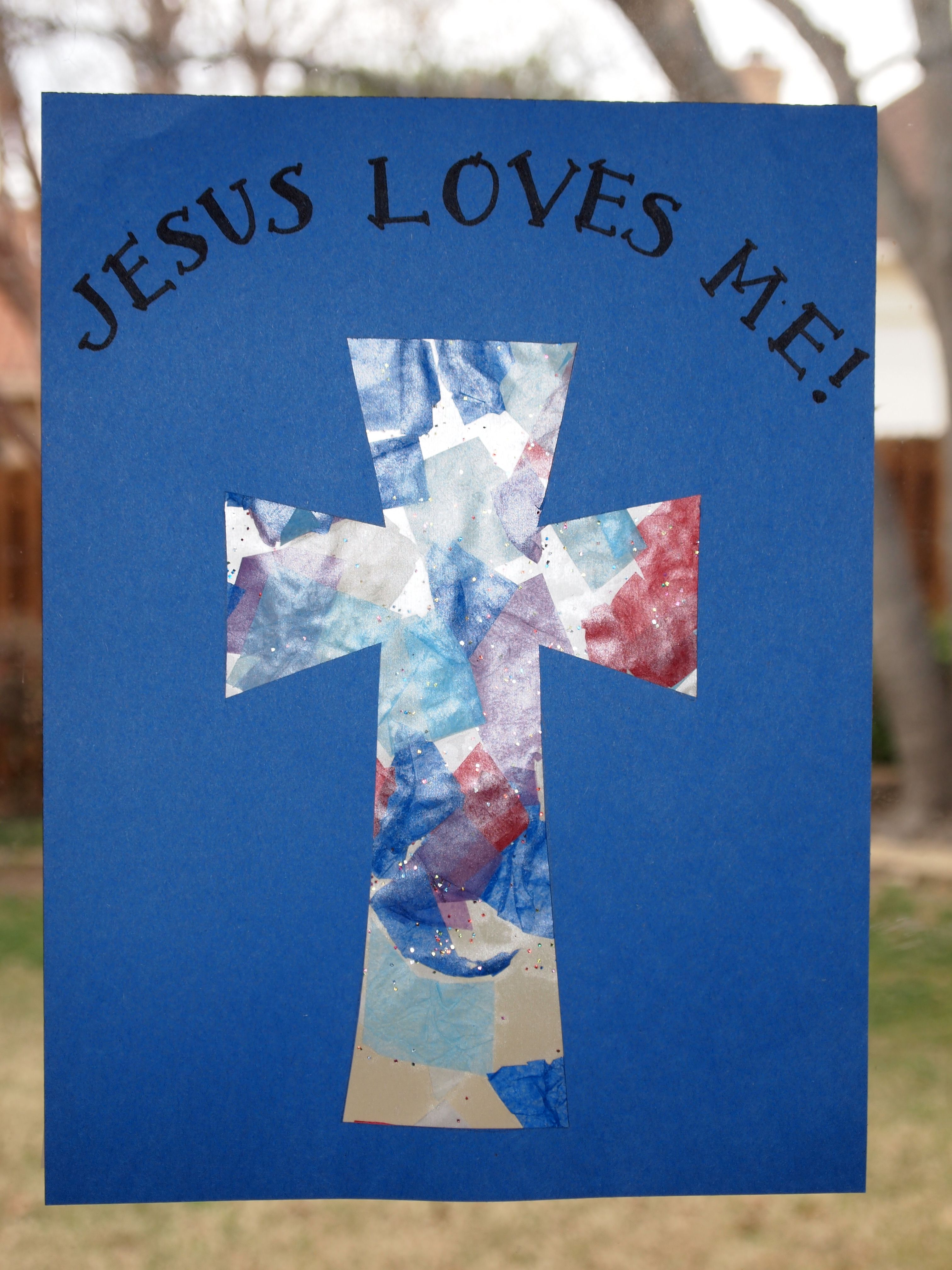 Cross template simple cross image craft ideas pinterest crosses -  Stained Glass Resurrection Day Cross