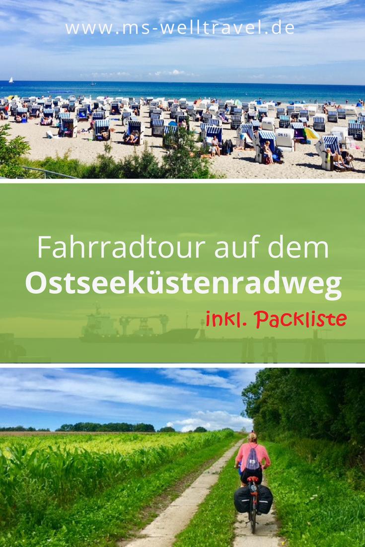 Ostseeküstenradweg Fahrradtour mit Packliste #campеr