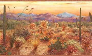 45 Southwestern Wallpaper Borders On Wallpapersafari Southwestern Wallpaper Silhouette Wall Art Cactus Wall Art