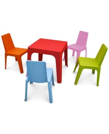 Julieta Kids Indoor Outdoor Table 4 Chairs Set Quick Ship Products In 2019 Kids Table Chair Set Table Chair Sets Table Chairs