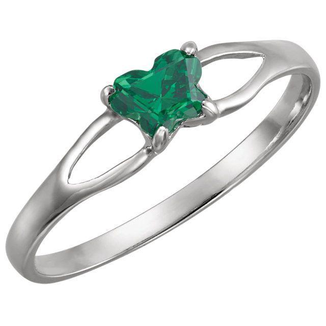 Sterling Silver Butterfly Birthstone Ring