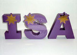Letras corpóreas de papel. Rapunzel