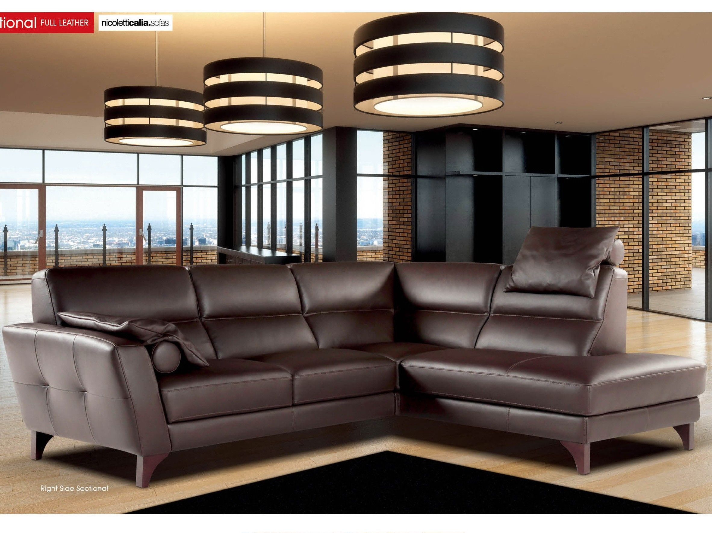 Astounding Nicoletti Evelin Sectional Sectionals Brown Sectional Ncnpc Chair Design For Home Ncnpcorg