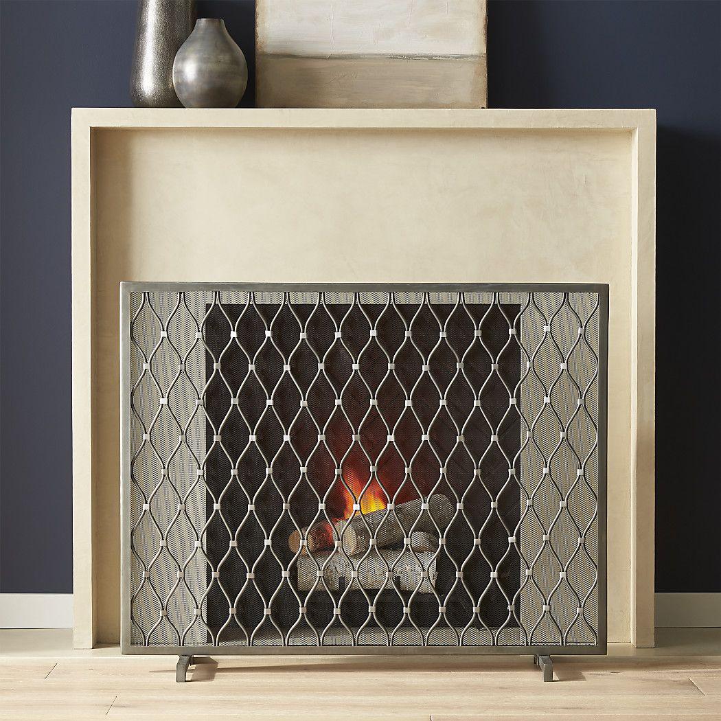 Corbett Bronze Fireplace Screen Reviews Crate And Barrel In 2020 Fireplace Accessories Freestanding Fireplace Fireplace Screens
