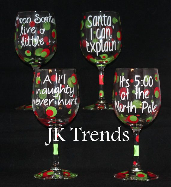 Custom Holiday Wine Glass - Christmas - Friends and Family ...