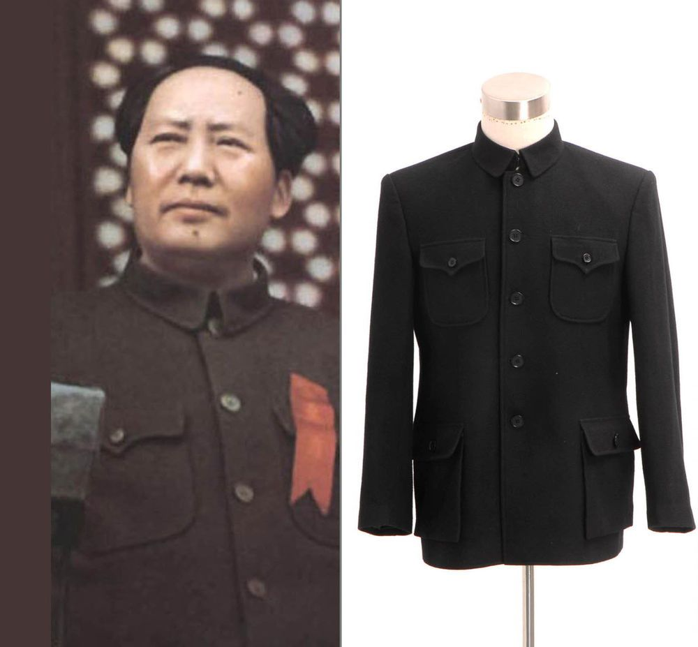 Chinese Traditional Wool Zhongshan Suit Vintage Style  Tailored   Handmade   Tuxedo f08392712