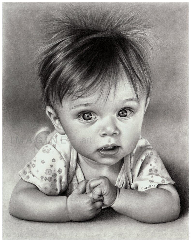 Hyper realistic drawings this drawing of baby kaia is one of lindas favourites she drew it using strathmore smooth bristol and an h b and 3b mechanical