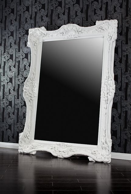 4111 WHITE BAROQUE MIRROR 7 FEET TALL | Baroque mirror, Mirror ...