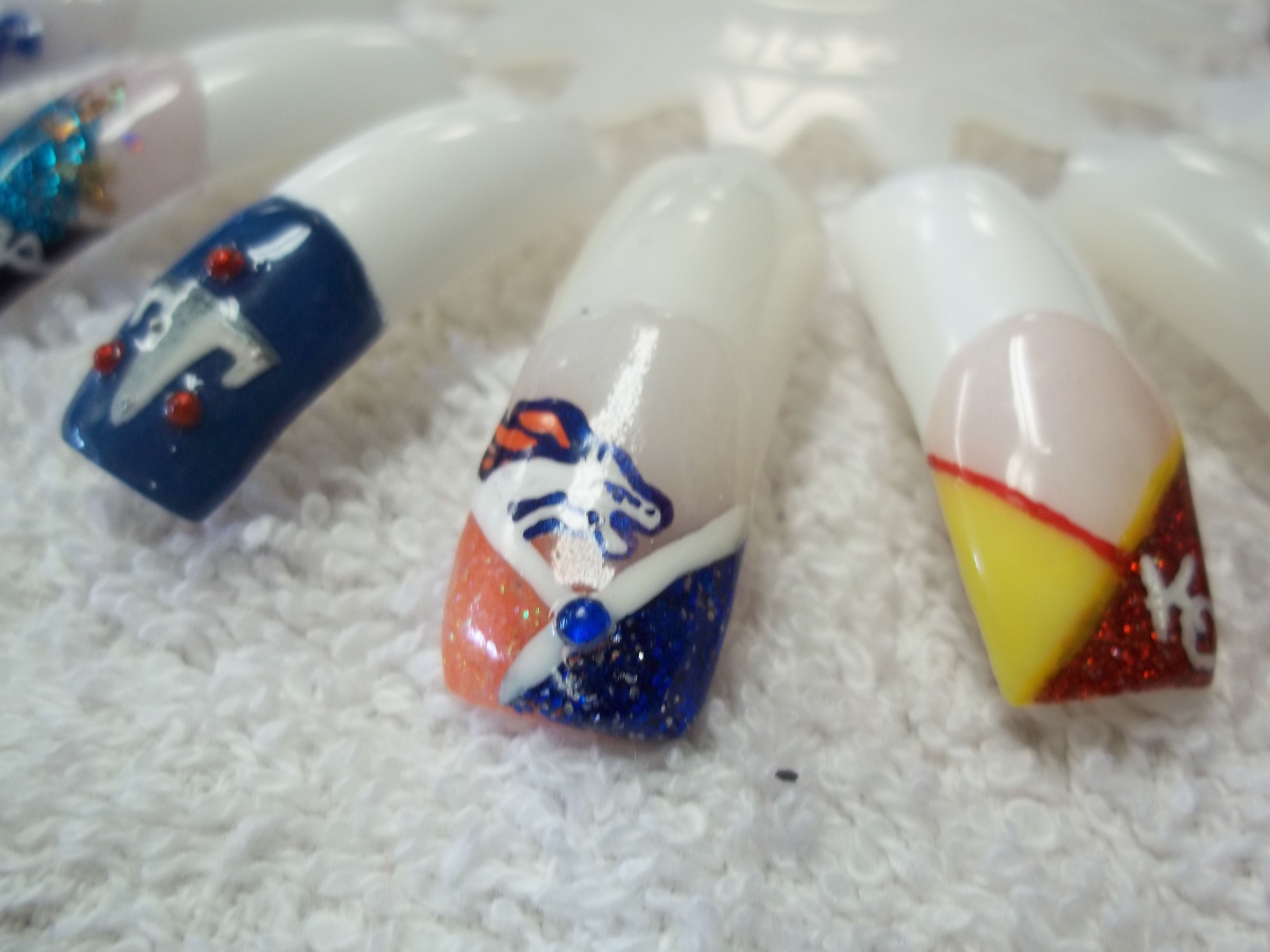 Nfl football nails designs tennessee titans denver broncos kansas nfl football nails designs tennessee titans denver broncos kansas city chiefs prinsesfo Gallery