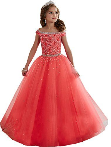 f36cdf460 Big Girls Mint Beaded Floor length Party Ball Gown Pagean…