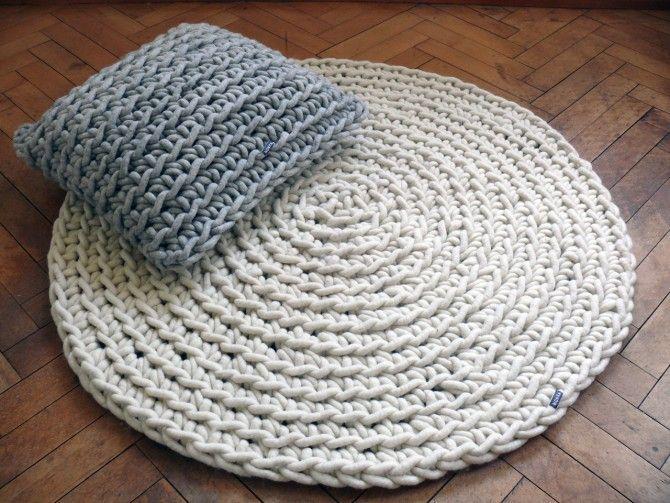 Handgehakelter Teppich Wollweiss Teppich Hakeln Arm Hakeln Und